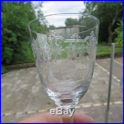 10 verres à vin en cristal de baccarat modèle Beauharnais gravé