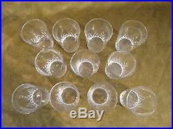 11 Gobelets à vin blanc 10cl cristal Baccarat Richelieu (white wine goblets) JL