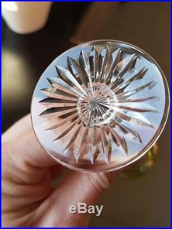 11 verres à liqueur en cristal gravé couleurs BACCARAT Saint Louis old glass