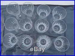 12 verres à porto en cristal de baccarat modèle Cassino ref 702