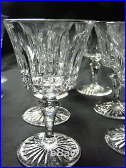12 verres vin rouge Baccarat Buckingham signes tres bel etat h 12,3 cm