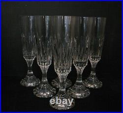 2793 6 flutes à champagne en cristal baccarat model assas