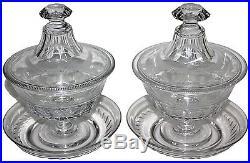 2 compotiers drageoir 1840 cristal de Baccarat coupe