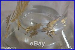 2 vases vase cristal baccarat profondément taillé et doré