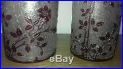3 Flacons, Carafe, Boîte en cristal de Baccarat modèle Eglantier