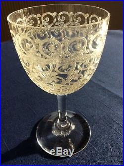 4 Verres Cristal De Baccarat Rohan Combourg