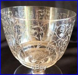 4 Verres a eau cristal Baccarat modèle Lulli signé