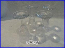 4 flutes à champagne cristal de Baccarat Nancy (champagne flutes)