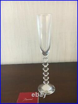 4 flûtes véga Flutissimo en cristal de Baccarat (prix à la pièce)