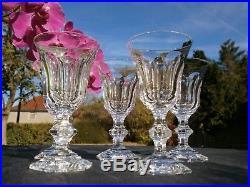 5 Anciens Verres A Liqueur En Cristal Baccarat Decor Type Harcourt