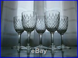 5 Anciens Verres A Vin En Cristal Baccarat Modele Paris Epoque 1920