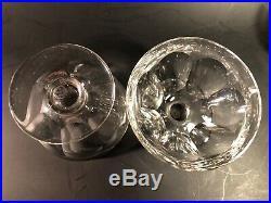 5 COUPES A CHAMPAGNE CRISTAL DE BACCARAT MODÈLE TALLEYRAND SIGNÉ H 7,7 CM verre