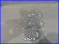 5 verres à porto 7,5cl cristal Baccarat Fontenay crystal porto glasses