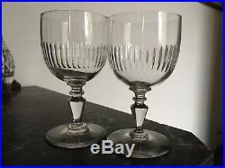 6 Beaux verres à Eau en cristal taillé de Baccarat Renaissance 14,5 cm