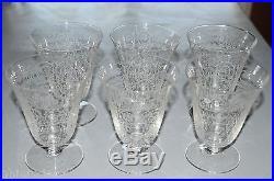 6 GRANDS VERRES A EAU CRISTAL ressemblant aux Verres Baccarat avant 1936 N501