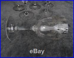 6 VERRES A EAU CRISTAL BACCARAT SEVIGNE Ht 15.5 cm (Service complet disponible)