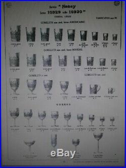 6 Verres Gobelet En Cristal Baccarat Modele Nancy Signes