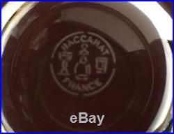 6 Verres à whisky en Baccarat bord doré