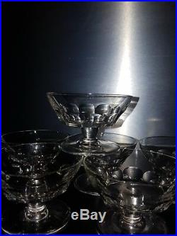 6 coupes a champagne en Cristal De BACCARAT Signés Modèle Périgord old crystal