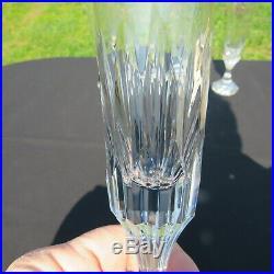 6 flûtes à champagne en cristal de baccarat modèle assas signé H 21,3 cm