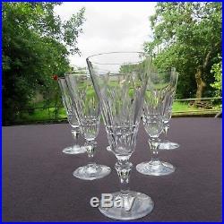 6 flûtes à champagne en cristal de baccarat modèle piccadilly signée