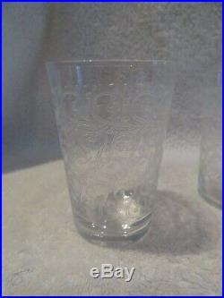 6 gobelets à vin 16cl cristal Baccarat Rohan crystal red wine goblets