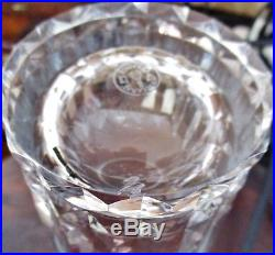 6 grands verres orangeade / eau / Whisky cristal de Baccarat modèle Piccadilly
