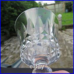 6 verre à vin en cristal de baccarat modèle piccadilly signé