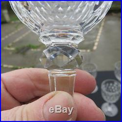 6 verres a eau cristal de baccarat modèle juvisy signé