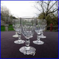 6 verres à eau en cristal de baccarat modèle gondole à côtes plates 2/2