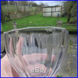 6 verres a eau en cristal taillé de baccarat a cote vénitienne
