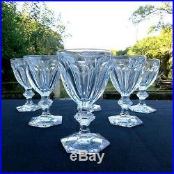 6 verres à porto en cristal de baccarat modèle harcourt H 11,5 cm L 1