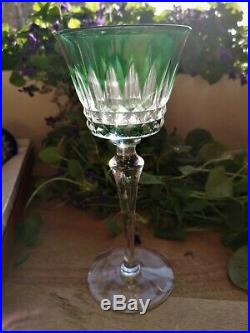 6 verres à vin blanc dit Rohmer cristal couleur BACCARAT modèle Piccadily