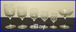 6 verres à vin blanc ou porto en CRISTAL DE BACCARAT, modèle NANCY 10,8cm