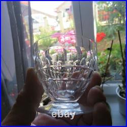 6 verres a vin en cristal de Baccarat modèle charmes H 6,2 cm signé