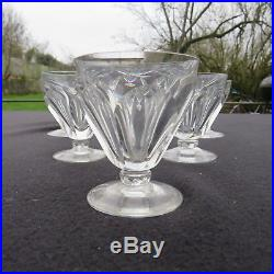 6 verres à vin en cristal de baccarat modèle Talleyrand signé