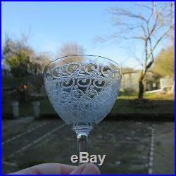 6 verres a vin en cristal de baccarat modèle rohan H 12 cm