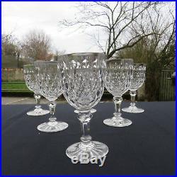 6 verres a vin rouge cristal de baccarat modèle juvisy signé H 13 CM