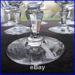 6 verres à vin rouge en cristal de baccarat modèle Chartres signé