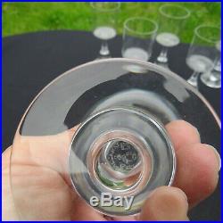 6 verres a vin rouge en cristal de baccarat modèle josé signé par Boris Tabacoff