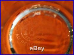 6 verres chopes à orangeade en cristal de baccarat modèle montaigne optic signé