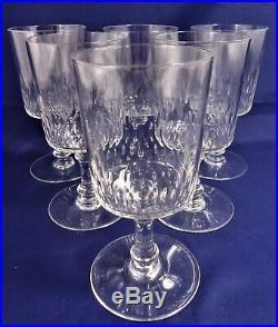 6 verres eau cristal Baccarat Richelieu Champigny 15 cm water glasses A27/29