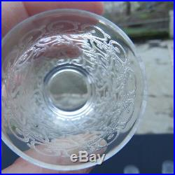 6 verres en cristal de baccarat modèle rohan H 6,5 cm