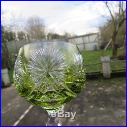 6 verres roemer de couleur en cristal de baccarat saint louis bohème