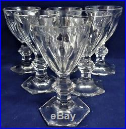 6 verres vin porto saké Baccarat Harcourt Réf A26/26 11,5 cm wine glasses