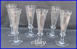 8 FLUTES A CHAMPAGNE EN Cristal Taillé Cotes plates BACCARAT milieu XIX ème