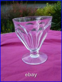 8 Verres A Vin En Cristal De Baccarat Harcourt Talleyrand 1937 Taillé Art Déco