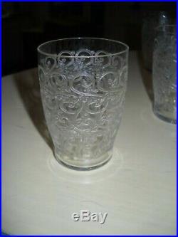8 superbes gobelets en cristal de BACCARAT modèle Rohan