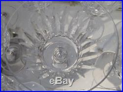 9 verres à eau cristal Baccarat Piccadilly (crystal water glasses)