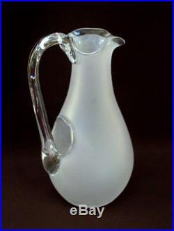 A Voir! Superbe & Important Pichet Verseur En Cristal Souffle, Modele Baccarat